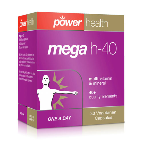 Mega h-40 High Strength Multivitamin & Mineral - 30 Capsules